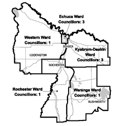 Map of Campaspe Shire Council