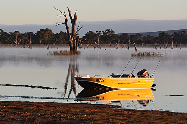 Boat on Lake Fyans